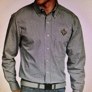 NFL New Orleans Saints Button Down Dress Shirt